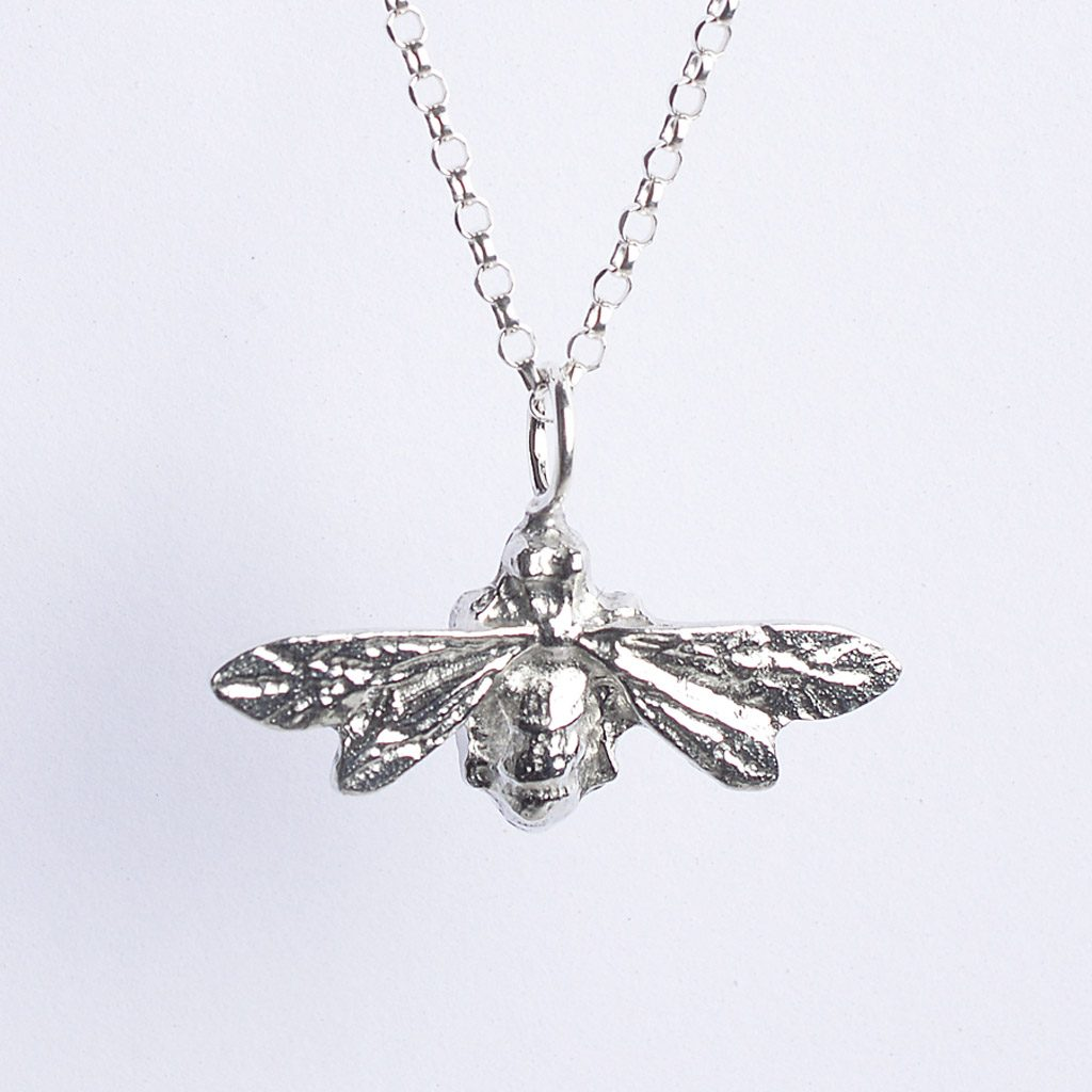 bee-necklace-silver-pewter-small